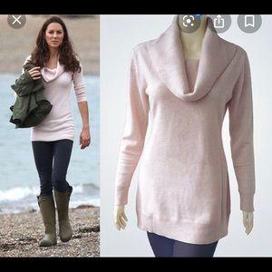 Loft pink cowl neck sweater- like Kate Middleton